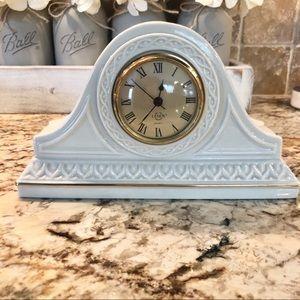 Lenox Mantle Shelf Clock Cream And Gold